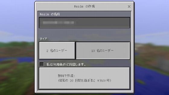 マイクラPE_Realms_購入