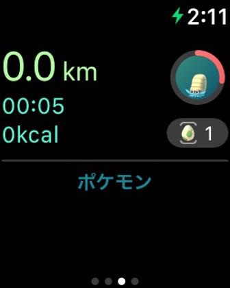 Apple Watch_ポケモンGO_ワークアウト画面