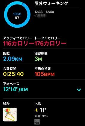 Apple Watch_ワークアウト_記録