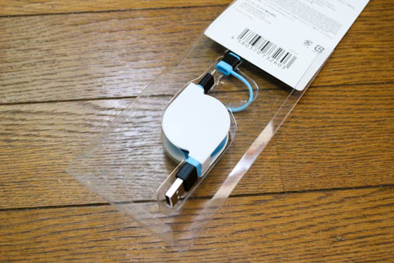 cheero 2in1 Retractable USB Cable_開封